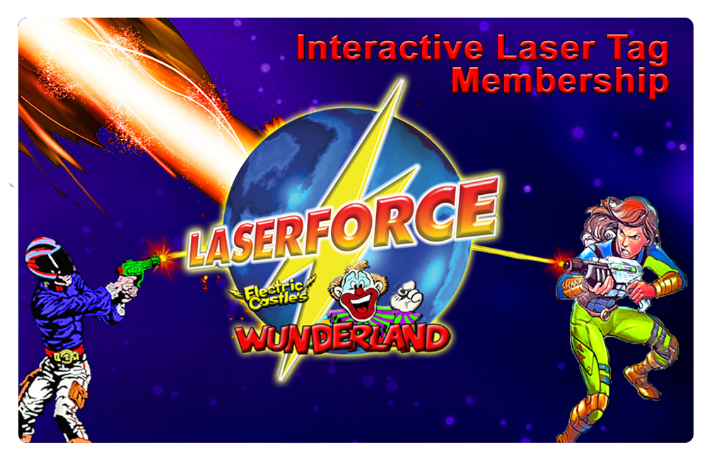 Interactive Laser Tag Membership Card