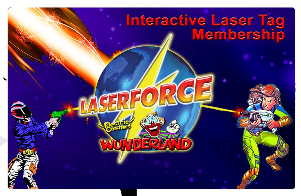 Interactive Laser Tag Membership Card