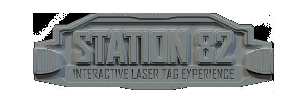 Station 82 Interactive Laser Tag Logo